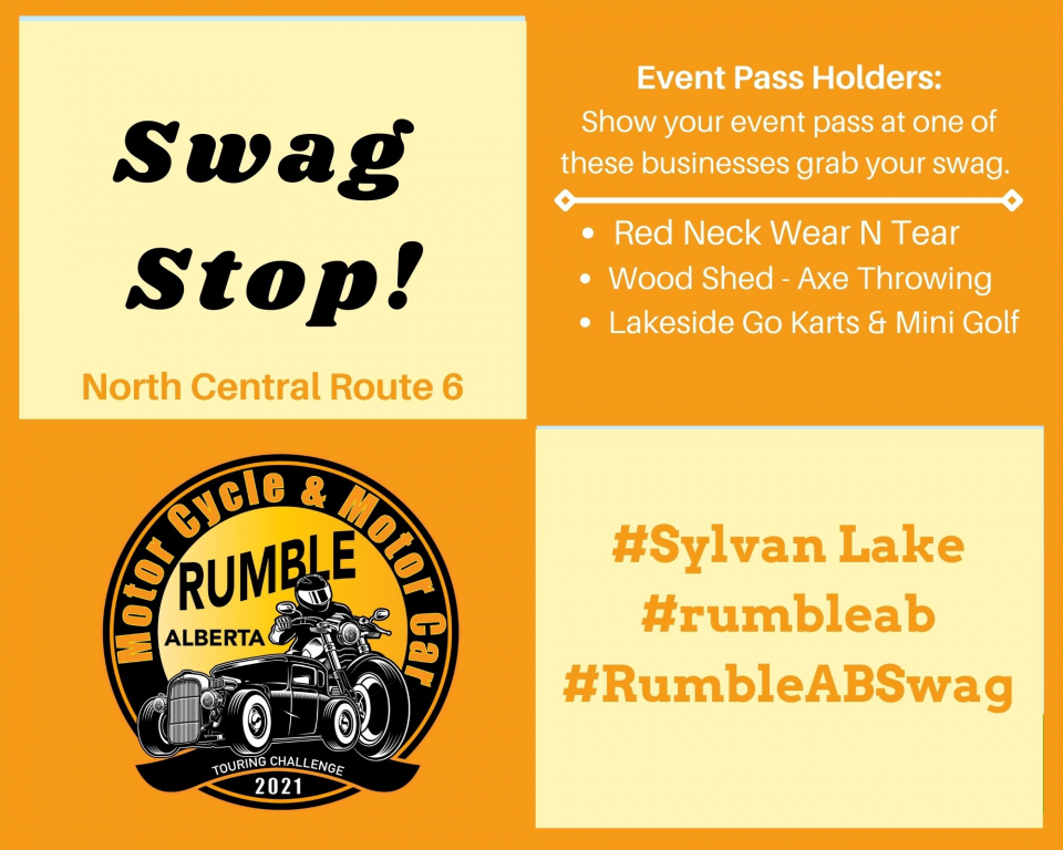 Event Pass Holders: 2 North Central Swag Stops are ready and waiting for you.