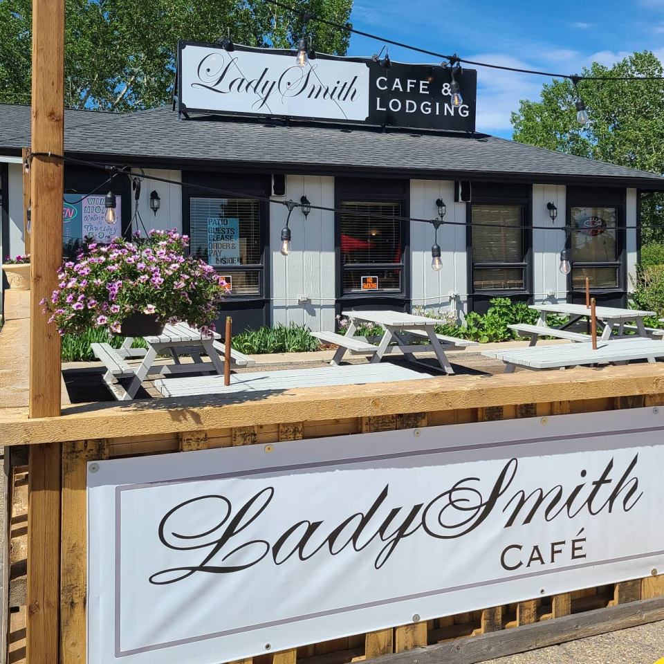If you're swinging through  and looking for a place to lay your head and grab a bite, be sure to stop by the LadySmith Cafe & Motel. Their patio is perfect for enjoying the sunshine, and their menu uses long-standing family recipes sure to keep you well fed!